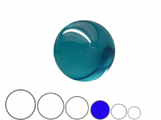 Jac Products Sky Blue Translucent 75mm Acrylic Contact Ball
